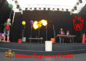 Wonderstruck Science Show balloon explosion finale