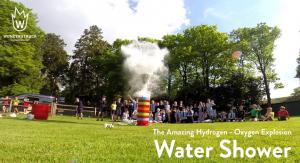 Wonderstruck explosive water shower science show demonstration