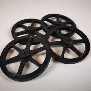 Fan-Powered Car Wagon Wheel Set
